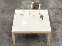 - Square solid wood table NODOO | Square table - NODOO