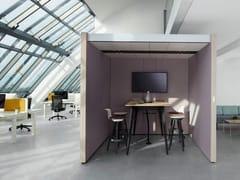 Isola ufficio acustica con illuminazione integrata per meetingNOOXS THINK TANK - BENE