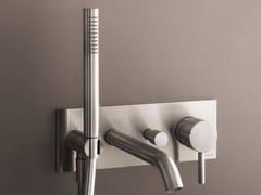 - Wall-mounted bathtub mixer with hand shower NOSTROMO - D020A/E321B - Fantini Rubinetti