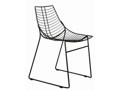 - Sled base stackable steel chair Net 096 - Metalmobil