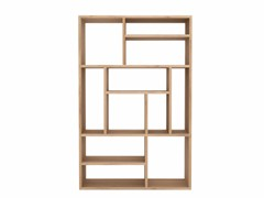 - Open solid wood bookcase OAK M SMALL - Ethnicraft