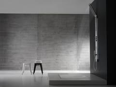 - Colonna doccia a parete termostatica in acciaio inox con led OBLIQUA | Colonna doccia - ZAZZERI