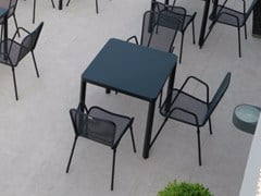 - Square steel garden table OBLIQUE | Square table - Talenti