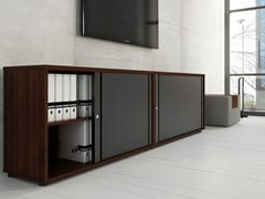 - Low office storage unit with tambour doors STANDARD | Low office storage unit - MDD