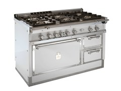 - Cooker OG128 | White and Chromed brass - Officine Gullo