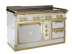 - Cooker OG128 | White and Polished brass - Officine Gullo