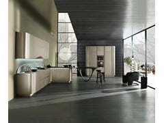 - Contemporary style fitted kitchen with integrated handles with peninsula OLA 20 | Kitchen with peninsula - Snaidero