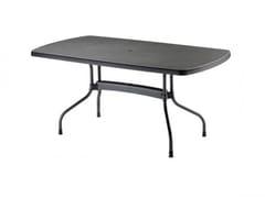 - Drop-leaf rectangular polypropylene table OLIMPO | Garden table - SCAB DESIGN