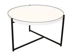 - Round aluminium coffee table with tray OLIVER | Coffee table - Evie Group