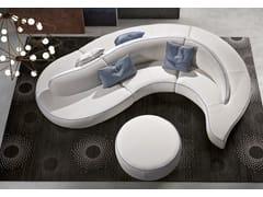 - Contemporary style sectional round leather sofa ONDA | Round sofa - ITALY DREAM DESIGN - Kallisté