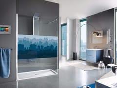 - Rectangular shower cabin with tray OPEN SHOT - Samo