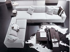 - Contemporary style sectional upholstered fabric sofa with removable cover ORAZIO | Sectional sofa - FRIGERIO POLTRONE E DIVANI