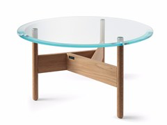 - Low round glass coffee table ORBITAL | Glass coffee table - Atipico