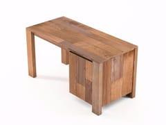 - Rectangular wooden writing desk with door ORGANIK | Rectangular writing desk - KARPENTER