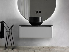 - Lacquered single wall-mounted vanity unit ORIGIN | Vanity unit with drawers - INBANI