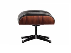 - Leather footstool with 4-spoke base OTTOMAN - Vitra