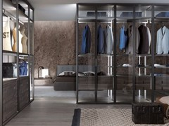 - Sectional custom glass walk-in wardrobe PALO ALTO | Sectional walk-in wardrobe - MisuraEmme