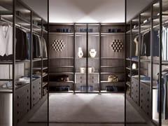 - Corner custom wood and glass walk-in wardrobe PALO ALTO | Wood and glass walk-in wardrobe - MisuraEmme