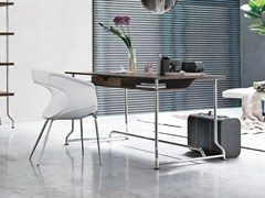 - Steel and wood writing desk with drawers PAPIER - ALIVAR