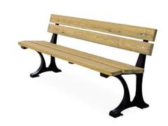 Panchina in pino con schienalePARIS   Panchina con schienale - CITY DESIGN