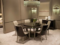 - Lacquered round wooden table with Lazy Susan PARIS | Table with Lazy Susan - HUGUES CHEVALIER