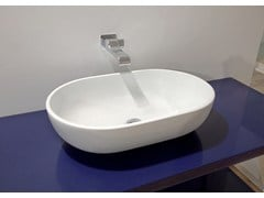 - Contemporary style countertop oval ceramic washbasin PASS 62 | Countertop washbasin - CERAMICA FLAMINIA