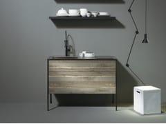 Minicucina in legno senza manigliePATTINA COMPACT - SANWA COMPANY