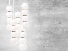 - LED satin glass pendant lamp PEARLS 5 - Formagenda