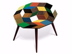 - Beech wood and HPL side table PENROSE CRAZY WOOD L - Bazartherapy