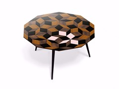 - Beech wood and HPL coffee table PENROSE GIANT SPRING WOOD L - Bazartherapy