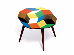 - Beech wood and HPL side table PENROSE PLAYWOOD M - Bazartherapy
