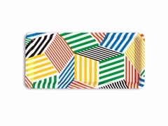 - Rectangular multi-layer wood tray PENROSE THE STRIPES - Bazartherapy