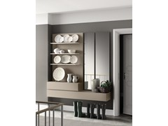 - Sectional wall-mounted lacquered storage wall PEOPLE | MOD. P203 - PIANCA