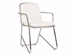 - Stainless steel garden chair with armrests PHOENIX | Chair with armrests - Sérénité Luxury Monaco