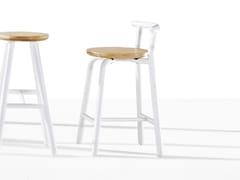 - Wooden counter stool PICKET | Wooden chair - Derlot Editions