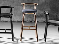 - Contemporary style upholstered fabric counter stool PICKET | Counter stool - Derlot Editions