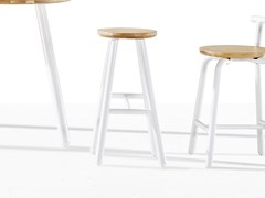 - High wooden stool PICKET | High stool - Derlot Editions