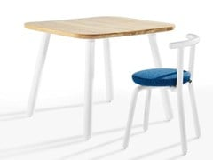 - Square wooden table PICKET | Square table - Derlot Editions