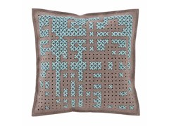 - Embroidered wool cushion CANEVAS | Square cushion - GAN By Gandia Blasco