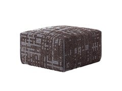 - Upholstered wool pouf CANEVAS | Pouf square - GAN By Gandia Blasco