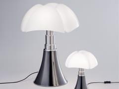 - Titanium table lamp PIPISTRELLO TITANIUM VERSION - Martinelli Luce