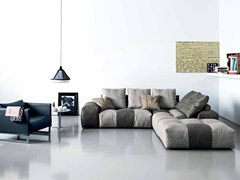 - Sectional sofa with chaise longue PIXEL   Sofa with chaise longue - Saba Italia