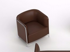 - Imitation leather armchair with armrests PLACE | Leather armchair - GABER