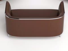 - 2 seater imitation leather sofa PLACE | Leather sofa - GABER