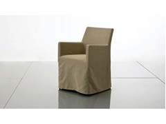 - Upholstered fabric chair with armrests PLANO | Fabric chair - Marac