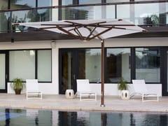 - Offset square Garden umbrella PLANTATION MAX ZERO HORIZON CANTILEVER - TUUCI