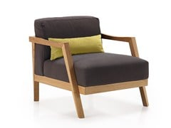 - Fabric easy chair with armrests PLAZA | Easy chair - Oliver B.