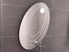 - Oval wall-mounted mirror with integrated lighting CHEF SET ONE | Mirror - LINEAG