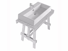 - Lacquered larch console sink PLUS DESIGN 95 | Console sink - GALASSIA