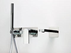 - Wall-mounted bathtub set with hand shower POIS | Wall-mounted bathtub set - RUBINETTERIE RITMONIO